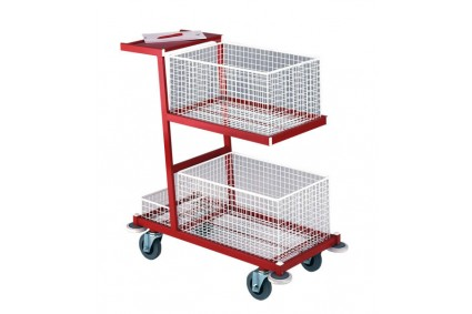 ORDER PICKING TROLLEY WRITING SHELF