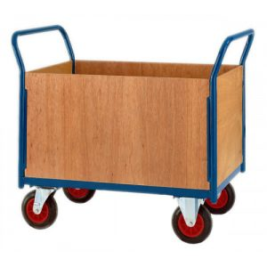 HEAVY DUTY PLATFORM TRUCK FOUR SIDED BOX